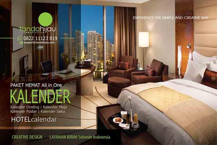 Cetak Kalender Hotel di Kendari