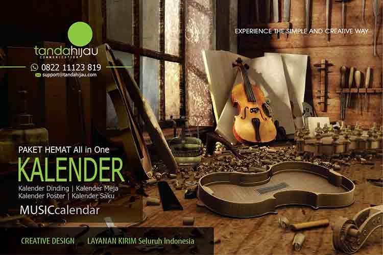 Cetak Kalender Musik di Mojokerto