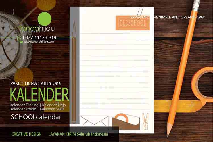 Cetak Kalender Sekolah di Banyuwangi