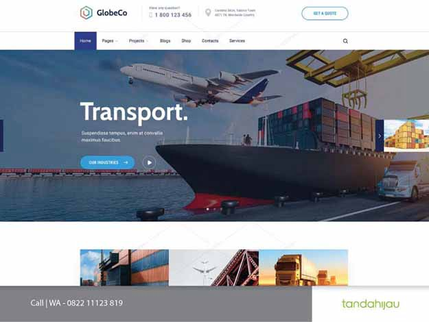 Pembuatan Website Cargo Surabaya