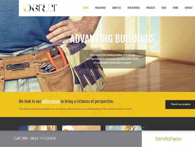 Pembuatan Website Kontraktor Surabaya