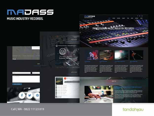 Pembuatan Website Music Musik Surabaya