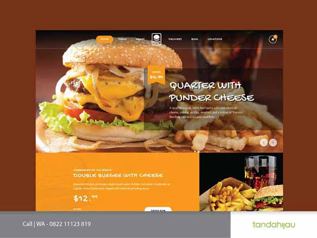 Pembuatan Website Resto Cafe Restoran Surabaya