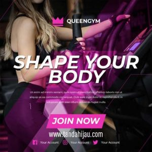 Jasa Desain Instagram Gym Makassar