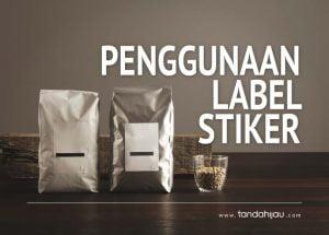 Penggunaan Label Stiker